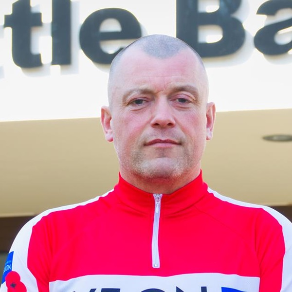 Battle Back instructor on Pedal to Paris challenge